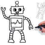 تعليم رسم الروبوت خطوة بخطوة للأطفال