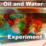 تجربة خلط الماء مع الزيت