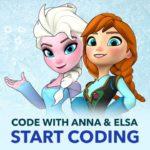 Anna and Elsa disney Hour of code