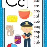 بطاقات الحروف الإنجليزية مع الكلمات